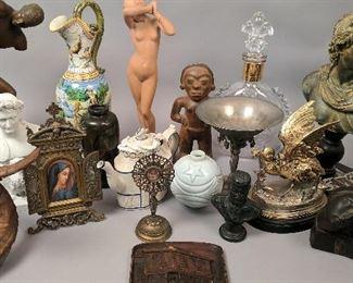 Bronze, Faience, Parianware, etc.