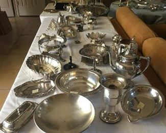 Great selection of silverware, more on next table