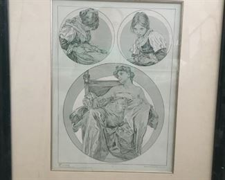 FIGURES DECORATIVES Plate 12 by Alphonse Mucha