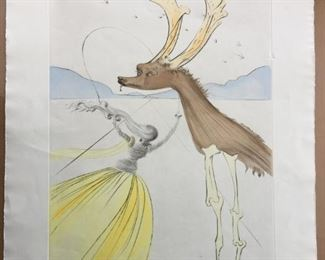 "Salvador Dali, ""NAPHTALI"" Signed & numbered (83/195) original etching From The Twelve Tribes of Israel Series"