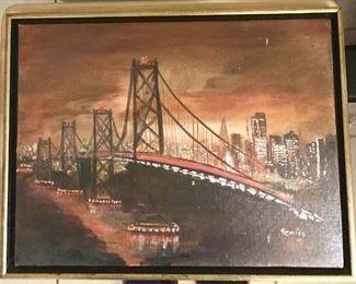 Bay City Bridge Original Painting