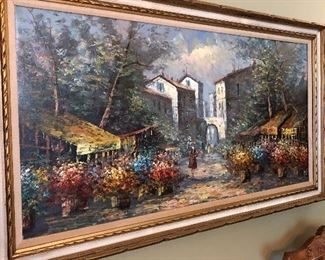 Vintage Original oil on canvas.