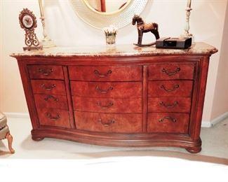 Gorgeous marble top dresser