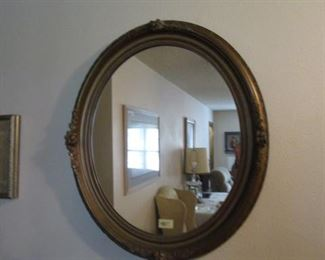 Oval Mirror.  Very old.