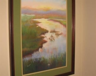 Original oil on canvas, matted and framed by local Barrington artist