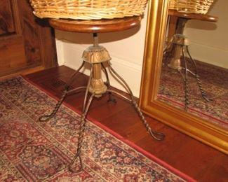 vintage adjustable piano stool