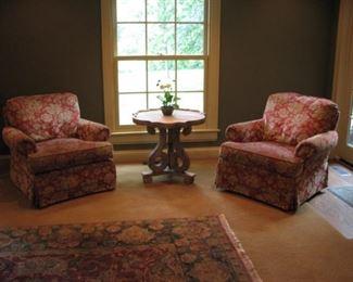 2 swivel rocking chairs