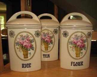 Vintage kitchen canister set