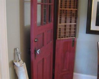 vintage red door