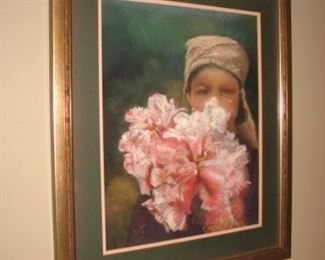 Original watercolor paintings, matted and framed, by a local Barrington artist