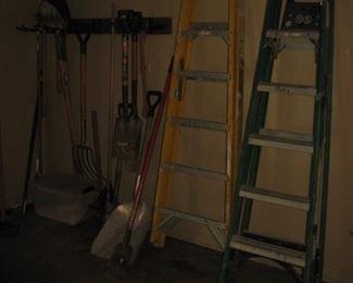 ladders, lawn tools