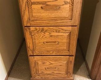 Oak File Cabinet - Good Condition