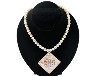 1. 17 Fine 8MM Pearl Necklace w14K Clasp