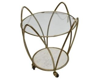 5. Contemporary Brass Glass Top Side Table