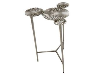 2. Contemporary Lily Pad Cast Aluminum Side Table