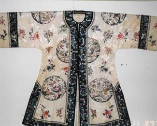 ANTIQUE CHINESE KIMONO ATTRIBUTED TO EMPRESS DOWAGER CIXI LATE 1800's
