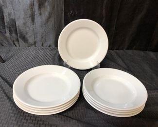 Apilco Porcelain White Soup Plates