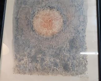 Mark Tobey signed and numbered print Louvre