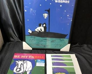 The Weepies Signed framed poster w Record and signed original prints