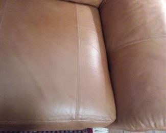 John Elway Leather four seating sofa/couch with 3 recliners.  Leather is in Excellent condition!