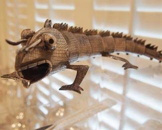 FINE Sterling Lizard by L. Castillo