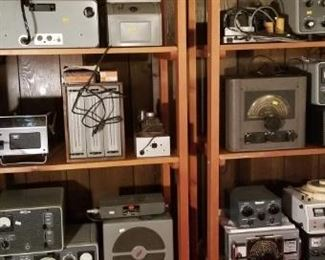 Vintage and antique radio equipment.