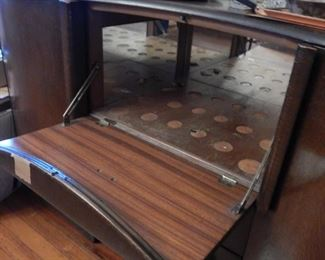 Deco bar in a dining room server.