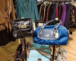 Beautiful designer purses in our Ladies Boutique!
