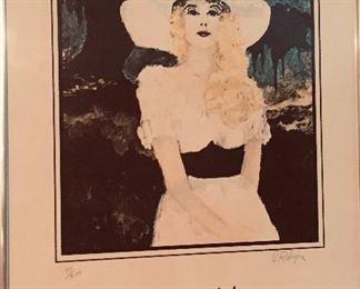 "Signed Rodrigue print ""Jolie Blonde"""