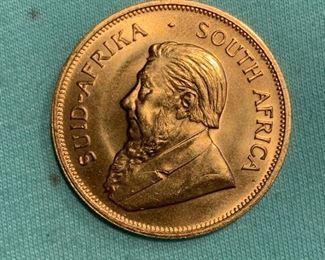 1 ounce gold Krugerrand