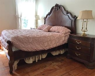 Bob Mackie for American Drew, King Sized Master Suite, King Bed, 2 Night Stands, Triple Dresser, Tall Chest