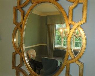 Wall Mirror in Antique Gold Leaf Finish