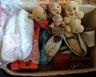 MORE....VINTAGE BABY SHOES, BABY TOYS