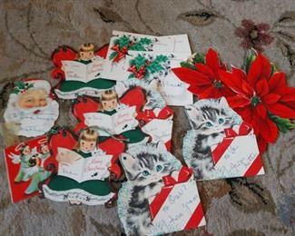 VINTAGE CHRISTMAS  SMALL GREETING CARDS/TAGS