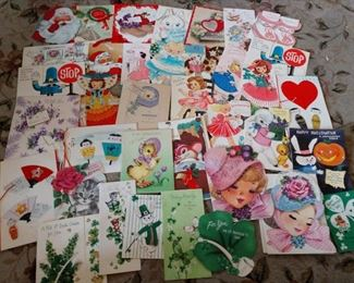 CLOSE-UP...VINTAGE GREETING CARDS...LOOK AT THOSE GRAPHICS!!!