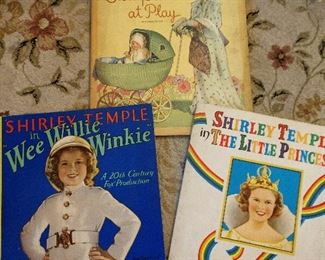 VINTAGE SHIRLEY TEMPLE BOOKS...GREAT GRAPHICS!!