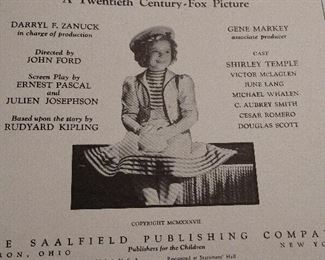 CLOSE-UP....SHIRLEY TEMPLE 30S BOOK