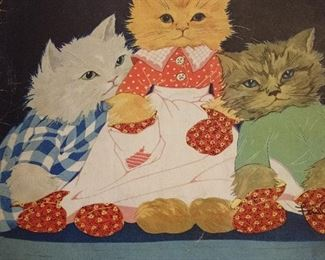 VINTAGE THREE LITTLE KITTENS --THEY LOST THEIR MITTENS BOOK
