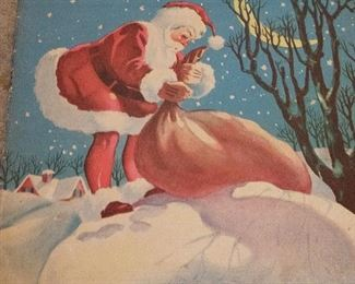 VINTAGE 30S THE NIGHT BEFORE CHRISTMAS BOOK