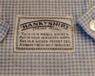 CLOSE-UP...HANKY SHIRT