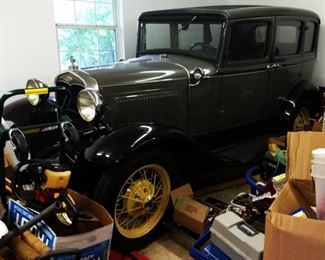 1931 Model A Sedan, Slant-Front Windshield, in near mint condition