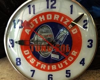 Vintage Advertising Clock- Tung-Sol
