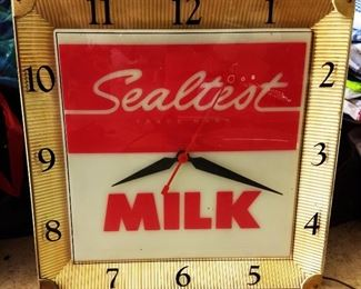 Vintage Advertising Clock- Sealtest Milk