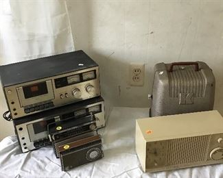 Vintage Radios and Tape Players