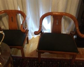 Oriental Horseshoe chairs