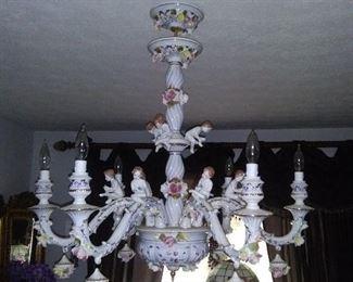 Capodimonte Porcelain Chandilier