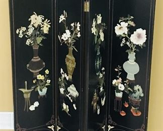 Antique Oriental Room Divider ~ Coromandel Screen {Imported from Tianjin, China}