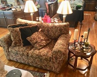 Paul Robert Furniture Co. Loveseat • Gordon's End Table (Matching the Sofa Table behind Loveseat) 😉