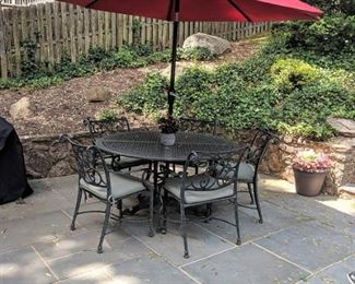 Cast Aluminum 8 piece Dining Set