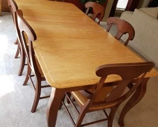 Dining Room table and chairs selling at coast2coast auctions